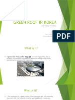 Green Roof in Korea Compared to Brazil