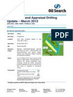 Oil Search Drilling Report for March 2015