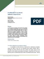 A Critica de Tv No Brasil
