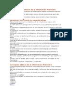 Características Básicas de La Información Financiera