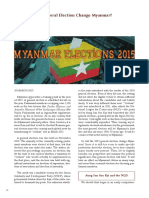 Will the 2015 General Election Change Myanmar?