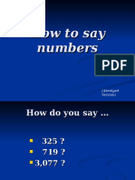 Number in english