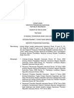 Permendiknas No. 58, 2009 Standar Pendidikan Anak Usia Dini