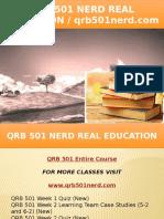 QRB 501 NERD Real Education - Qrb501nerd.com