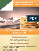 REL 134 HOMEWORK Real Education - Rel134homework.com