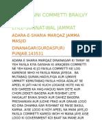 Raza Sunni Commetti Brailvy Razvi Ehle