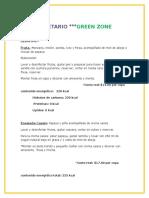 Menu Green Zone