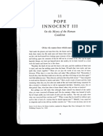 02 - Pope Innocent III - On the Misery of the Human Condition (Mid 12th CE)