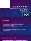 Nelsons Hour DM in Children