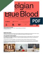 Expo Belgian Blue Blood Communiqué de Presse