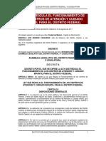 LEY QUE REGULA EL FUNCIONAMIENTO DE  LOS CENTROS DE ATENCIÓN Y CUIDADO  INFANTIL PARA EL DISTRITO FEDERAL