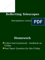 Astrophysics 3 - Reflecting Telescopes.ppt