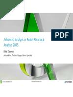 Advanced analysis Robot Structural Analysis
