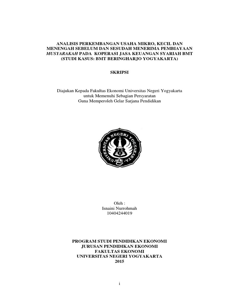 Contoh Proposal Skripsi Hukum Ekonomi Syariah Pejuang Skripsi