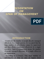 A Presentaion on Spane of Management