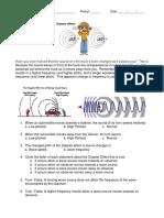 Doppler Effect Worksheet