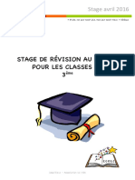 Stage avril16- Collège