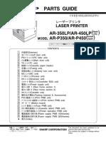Sharp ARP350 P450 Parts Catalog