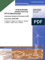 Determination of Acid Soluble Lignin Concentration Curve by UV-Vis Spectroscopy