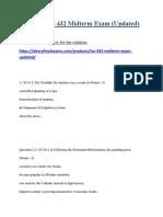 LAS 432 Midterm Exam (Updated)