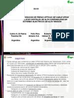 CARACTERIZACION DE FIBRAS OPTICAS DE CABLE OPGW PARA ENLACES DIGITALES DE ALTA CONFIABILIDAD EN  SISTEMAS ELECTRICOS DE ALTA TENSION
