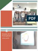 Semaine de La Francophonie 2015-2016