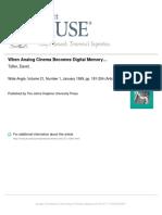 When Analog Cinema Becomes Digital Memory…