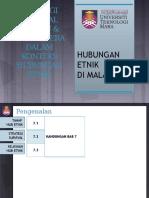CTU555 Sejarah Malaysia - Strategi Survival Melayu & Bumiputera Dalam Konteks Hubungan Etnik