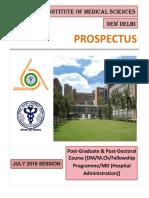 Prospectus Aiims Dm-mch July 2016