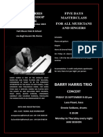 Barry Harris September 2015 Workhsop Flyer