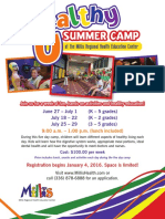 general summer camp flier