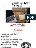 Essay Writing Skills Year 1 March 2016