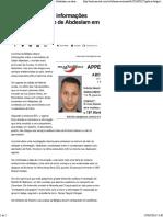 Polícia Belga Teve Informações Sobre Esconderijo de Abdeslam Em Dezembro - Notícias - UOL Notícias