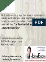 Espiritualidad en Las Empresas Jaime España