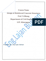 Design of Reinforced Concrete Course-Part Three-Handbook-All Lectures, By