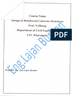 Design of Reinforced Concrete Course-PartTwo-Handbook-All Lectures, By