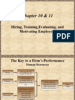 7. Motivating, Hiring, Training, & Evaluating Employees