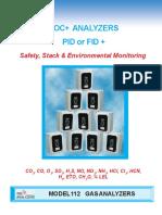 Model 112 VOC or EC Analyzers 4 Pg 807 3 Gas