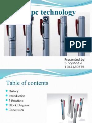 5pen pc technology  Pen Pc Technology Block Diagram on