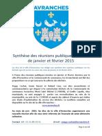 Synthèse des réunions publiques sur les déchets en 2015