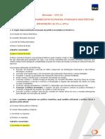Módulo I - Princípios Básicos Da Economia, Finanças e Estatística_Comentado