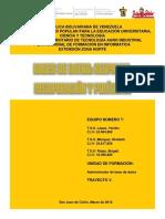Respaldo de Base de Datos. Politicas y Recuperacion de Fallos Catastroficos