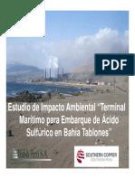 EIA Bahía Tablones - Mesa Moquegua