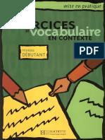 Exercices de Vocabulaire en Contexte - Niveau Debutant
