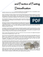 The Role and Practice of Fasting in Detoxification