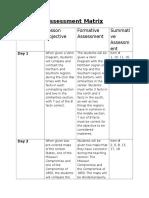 assessment matrix