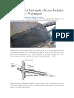 Cálculo de Soil Nail Walls o Muros Anclados Con Hormigón Proyectado