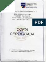 Acta constitutiva SVCBMF vigente al 2016