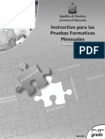 Instructivo Pruebas Formativas 7°-11° Matemticas (2011)