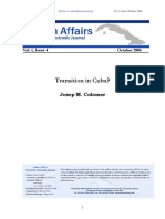 Transition in Cuba